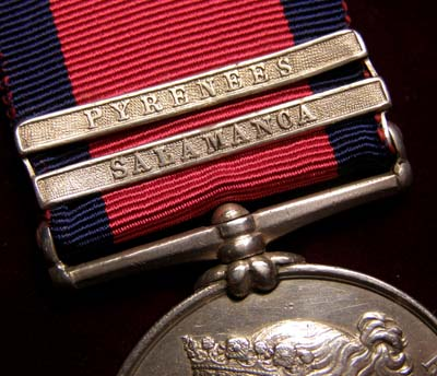 Military General Service Medal. Salamanca & Pyrenees Clasps - Wounded - 32nd Foot
