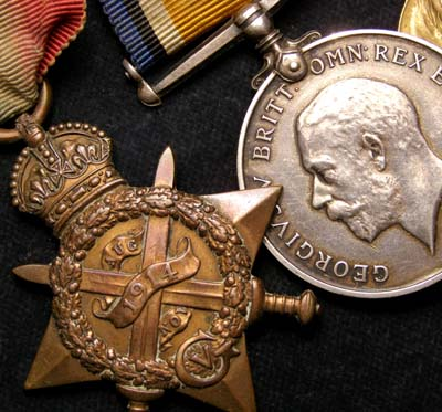 WWI Medal Group. Scots Guards. Wounded.1914.