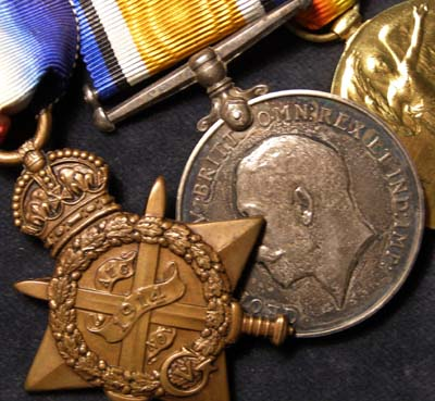 WWI Medal Trio. 1914. South Staffordshire Regiment.
