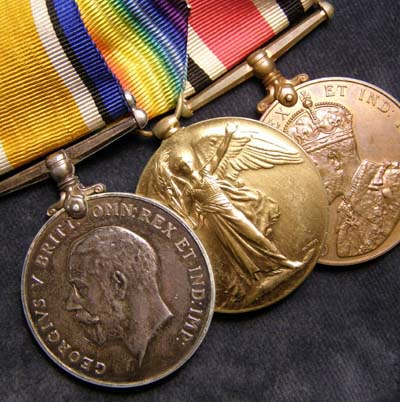 RFC Medal Trio. 12 Squadron. 3 Kills. Captain.