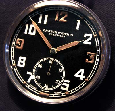 British Army Pocket Watch By Orator. G.S.T.P. Black Dial.