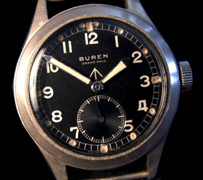 'Dirty Dozen' British Army Watch By  Buren. Commando Hands.