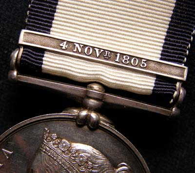 Naval General Service Medal. 4th Novr Clasp. Provenance.