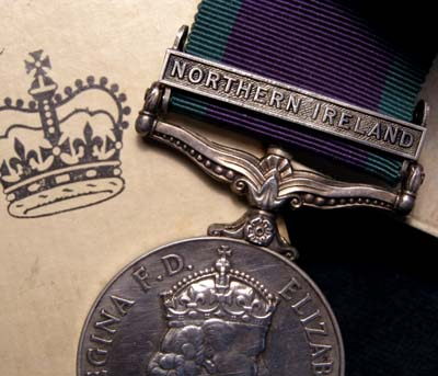 General Service Medal | Northern Ireland | POW | Boxed