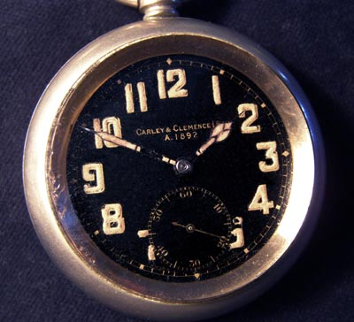 British Military 'G.S.MK.II' Pocket Watch By Carley & Clemence.