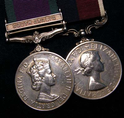 RAF LSGC Medal | GSM South Arabia Clasp