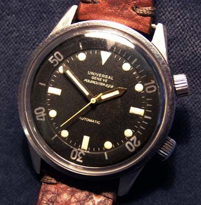 Universal Polerouter-Sub. Military Diver Watch 1960s.