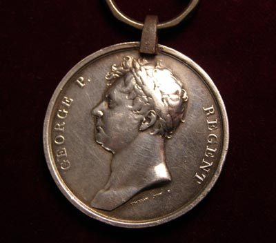 Waterloo Medal. 2nd Battalion Grenadier Guards. Wounded.