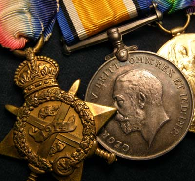 WWI Medal Trio. 1914. 10th Liverpool Regiment.