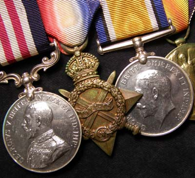 WWI Military Medal & Trio. Manchester / Wiltshire Regts.