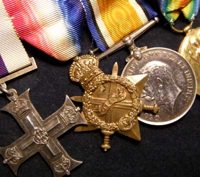 Military Cross Medal Group. Lieut.Fisher. Middlesex Regiment.