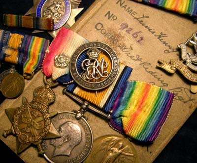 WWI Medal Trio. Private. West Riding Regt.