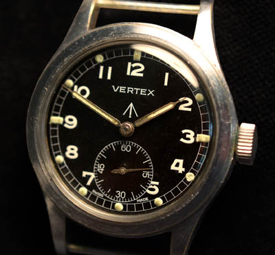 Dirty Dozen British Army Watch By Vertex, Switzerland.