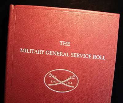 The Military General Service Medal Roll 1793 - 1814 - Leatherbound.