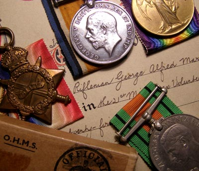 WWI Medal Trio & Defence. 11th London Regt.
