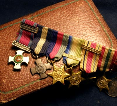 DSO/ DSC Miniature Medal Group. Cased.