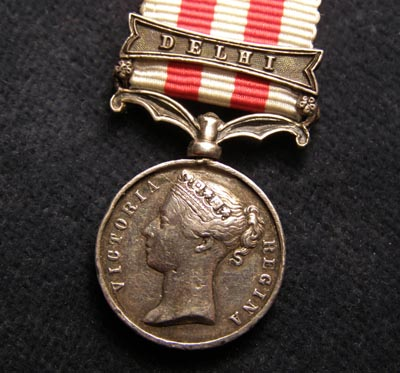Indian Mutiny Miniature Medal. Delhi Clasp.