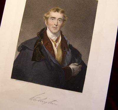 Duke of Wellington by Lawrence. Engraving By Robinson - Hand Painted.