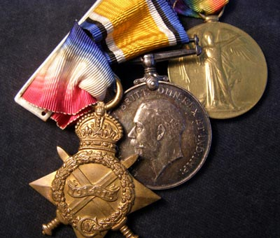 WWI 'Somme' 1914-15 Star Medal Trio. Gloucestershire Regt. K.I.A.
