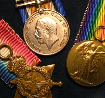 Killed First Day Somme | 1914-15 Star Medal Trio | Lancashire Regt.