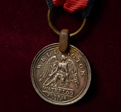 Waterloo Medal Miniature.