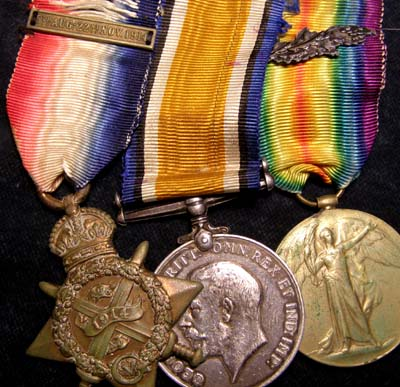 WWI 1914 Star Medal Trio. 7th Dragoon Guards