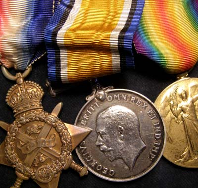 WWI 1914 Star Medal Trio. Scots Guards. POW.