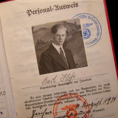 NSDAP Membership Book To SS Man With Oath To Reichsführer-SS.