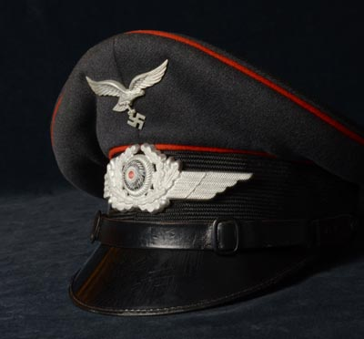 Luftwaffe Flak NCO Visor Cap | Named.