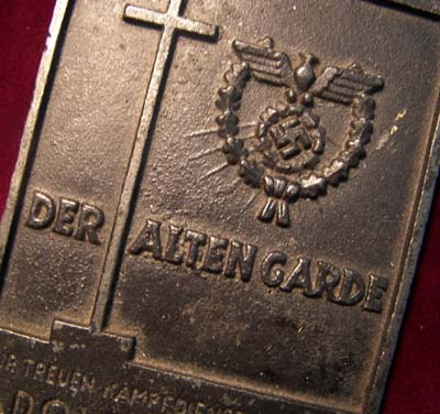 NSDAP Alten Garde (Old Guard) Gau Düsseldorf  Non-Portable Award