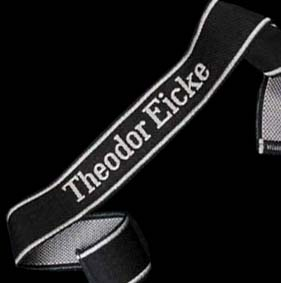 Theodor Eicke SS Officer Cuff title.  BeVo Woven.