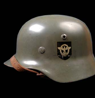 German Steel Helmet. M35. Double-Decal. Police.
