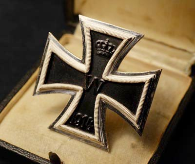 Iron Cross 1st Class 1914-18. Cased. Made By Mayer, Pforzheim. No 26.
