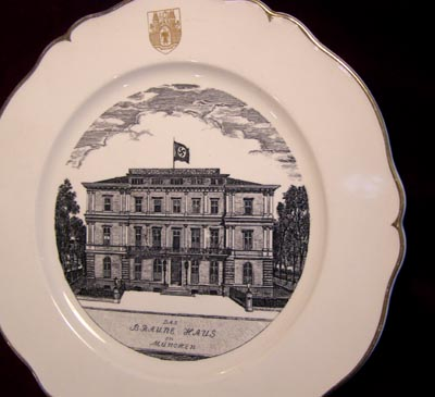 Hitler's Brown House Headquarters - Special Subscription Porcelain Presentation Plate.