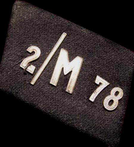 NSKK Unit Collar Patch '2/M78' - Gruppe Franken
