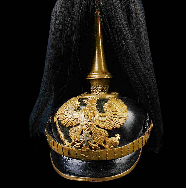 Pickelhaube | Prussian Reserve Officer | Dress Plume.