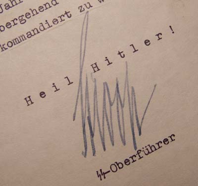 Jürgen Stroop | SS-General | Warsaw Ghetto Uprising | Signature.