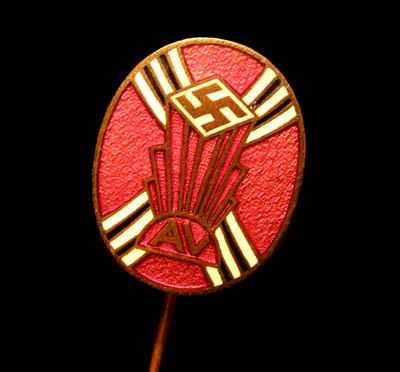 German-American Bund (American Nazi Association) Lapel Pin 1930s.