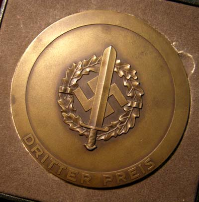 SA Gruppe Berlin Sports Non-Portable Award 1938 - Cased