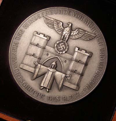 Association Of Munich Dog Breeders In Silver - Cased