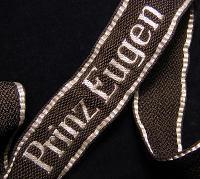 Prinz Eugen Officer 'Flatwire' Woven Cuff Title.