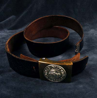 Prussian OR/NCO leather belt & buckle