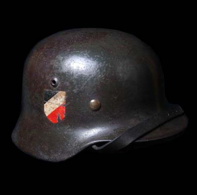 German Steel Helmet. M35. Double-Decal.