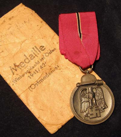 A  Russian Front Medal With Issue Packet