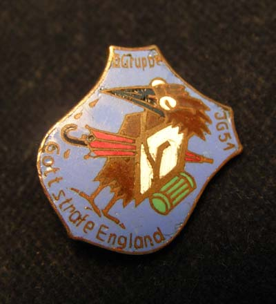 Luftwaffe Squadron Badge J.G.51 (Fighter Squadron)