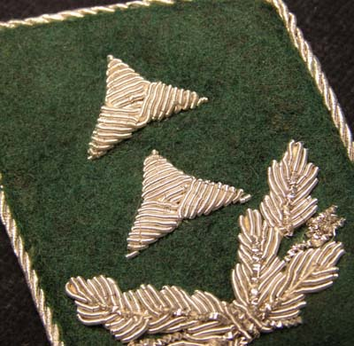 Luftwaffe Administration  or Geheime Feld Polizei officials collar patch - Inspektor - Single