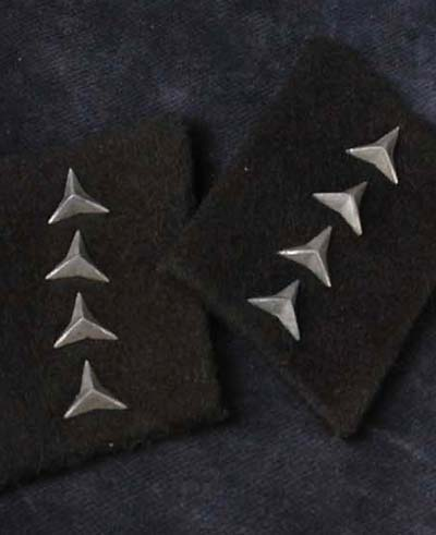 Luftwaffe Administration Collar Patches for 'Einfacher Dienst' (Basic School Education)