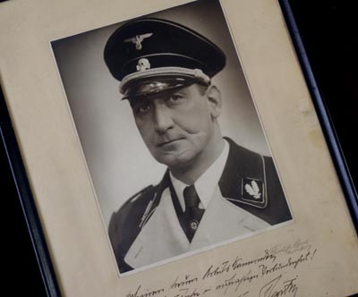 SS Gestapo Chief Benno Martin Signed & Dedicated Framed Photograph.