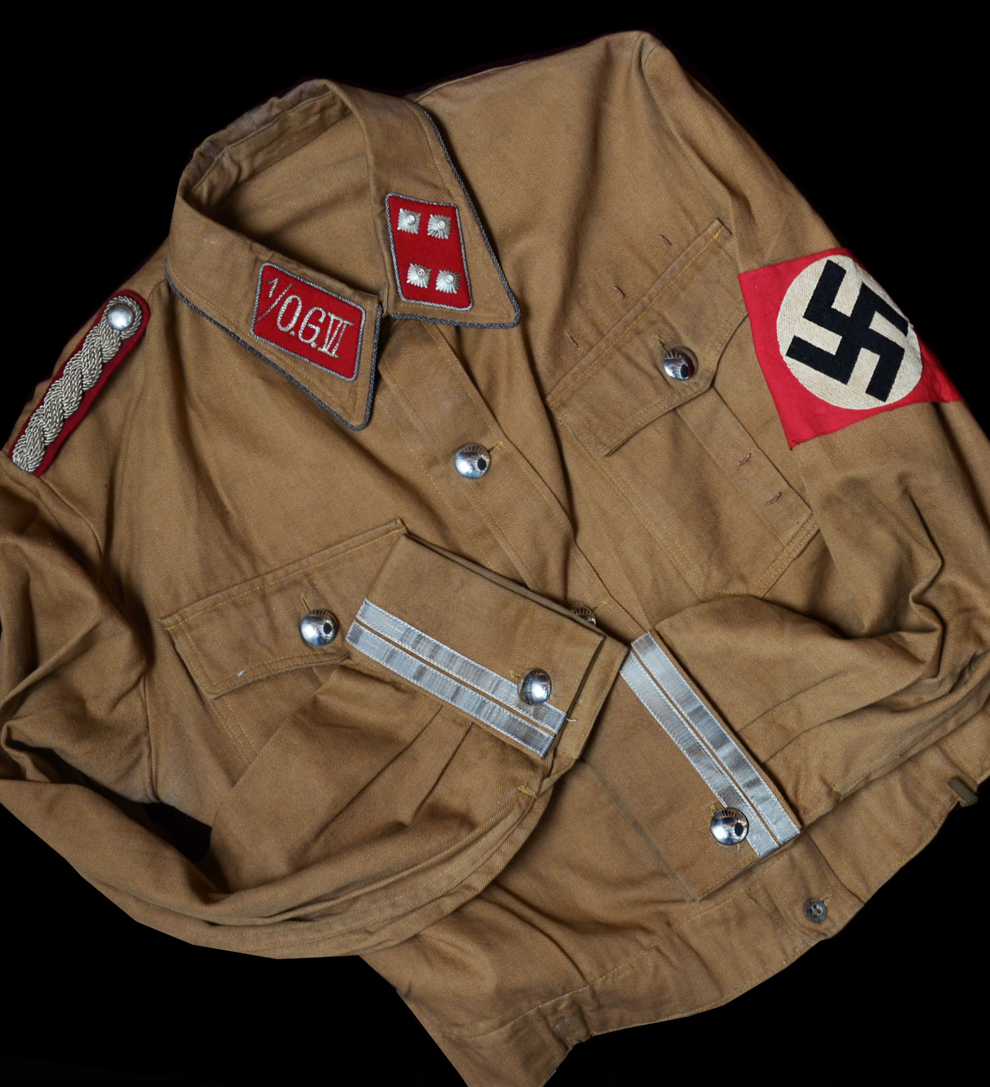 SA 'Obergruppe Leader' Brown Shirt Rank Of Sturmbannführer.