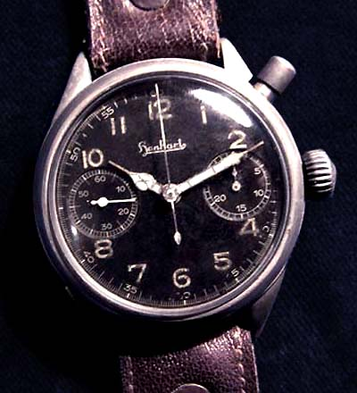Luftwaffe Chrongraph By Hanhart. Single-Button. 1940. Rare.